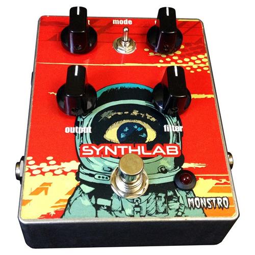 pedal synthlab analog fuzz sintetizador p/ baixo contrabaixo