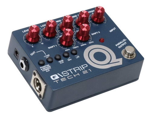 pedal tech 21 q strip eq preamp direct box mosfet di