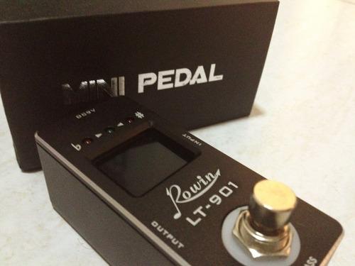 pedal tuner afinador cromático rowin | para guitarra baixo