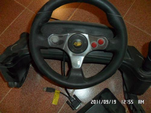 pedal y volante mad catz