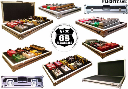 pedalboard flightcase pedales (mxr boss guitarra bajo)