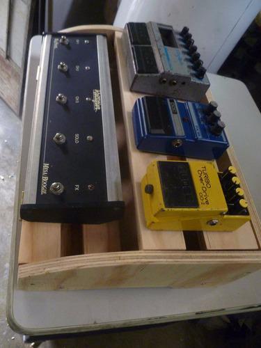 pedalboard guitarra bajo boss digitech earthquake fabricació