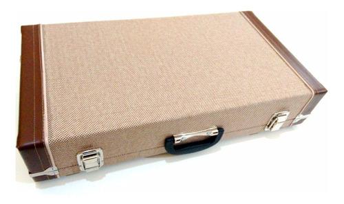 pedalboard hard case de pedais ecológico tweed 60x33x11 novo