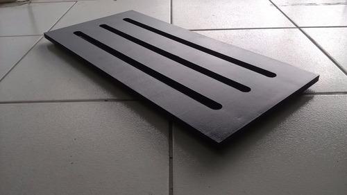 pedalboard pedal board 60x30 3cm madeira ótima qualidade