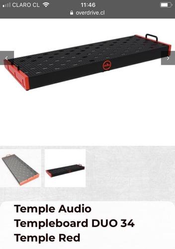 pedalboard temple audio templeboard duo 34 temple red+funda