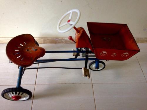 pedalcar antigo trator caçamba bandeirante