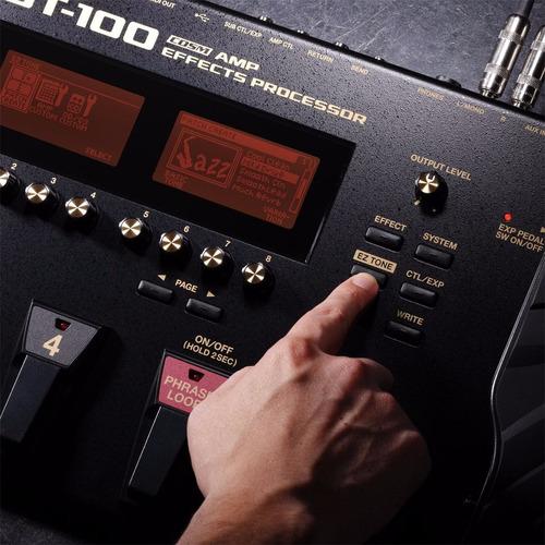 pedaleira gt100 boss gt-100 loja oficial + fonte + brindes!!