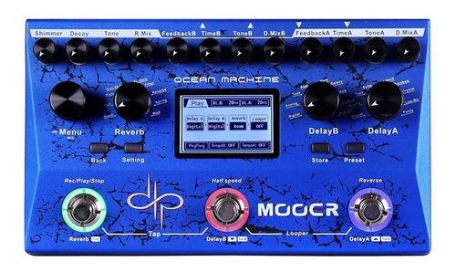 pedaleira mooer delay & looper ocean machine + nfe