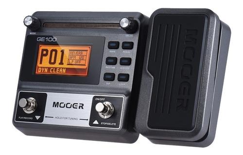 pedaleira mooer multi-efeitos p/ guitarra ge100 + nf + garan