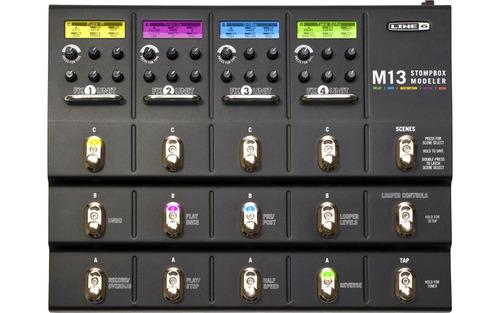 pedaleira p/ guitarra c/ 100 emulações famosas - line 6 m13