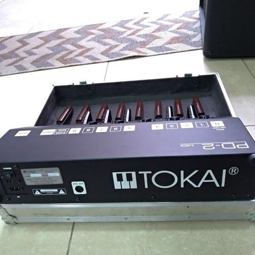 pedaleira tokai pd-2 midi controladora teclado c/ case usado