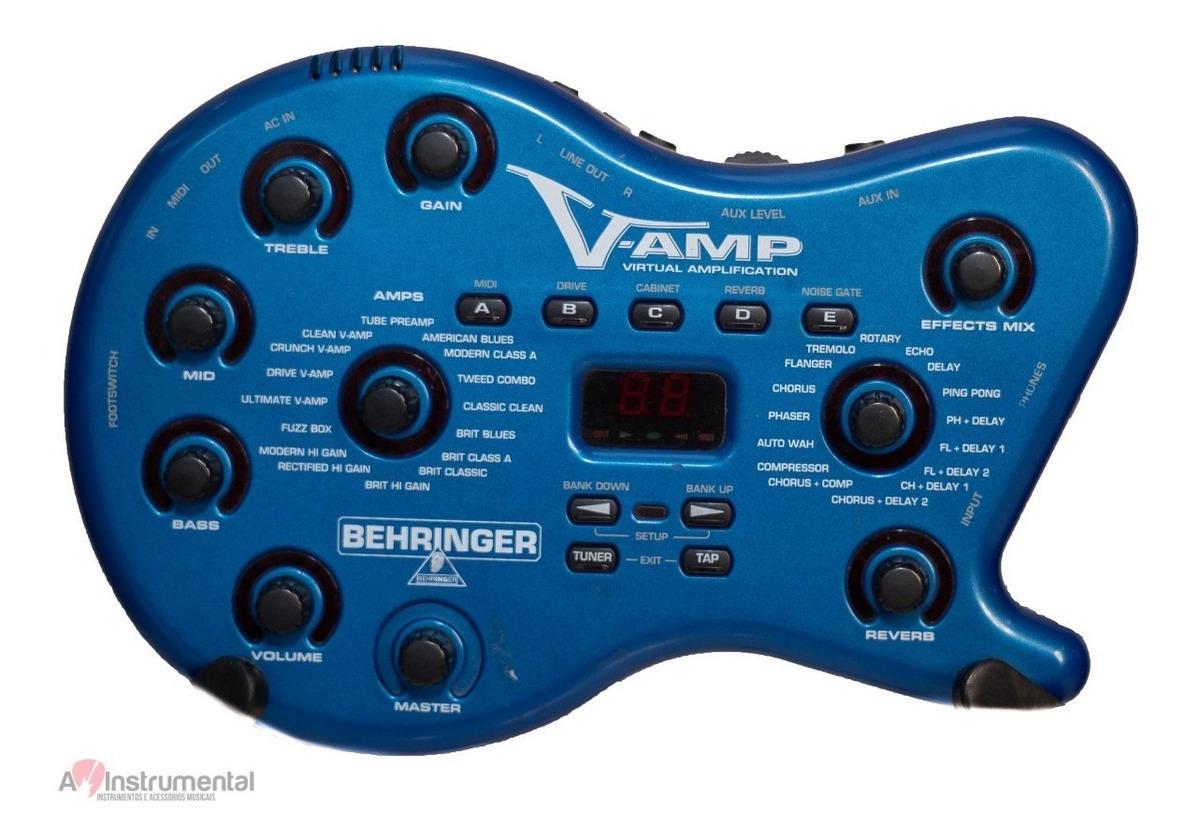 Pedaleira V-amp 1 Behringer - Vamp - R$ 390,00 em Mercado Livre