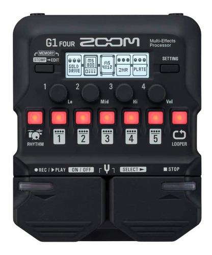pedaleira zoom g1 four multi efeitos para guitarra