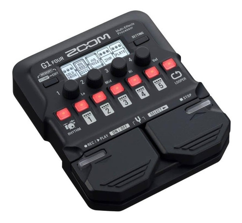 pedaleira zoom g1 four pedal efeitos guitarra