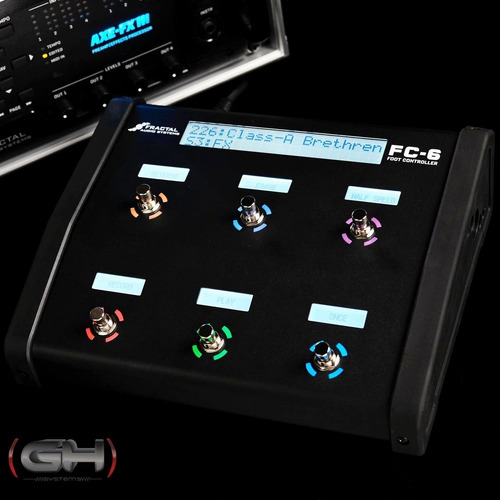 pedalera controladora fractal audio systems fc-6 en stock!!!