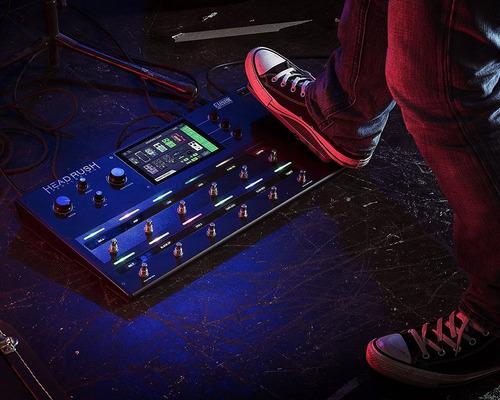 pedalera de guitarra headrush pedalboard   guitar amp & fx m