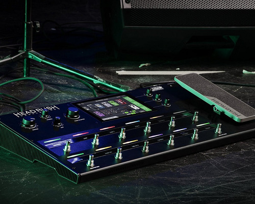 pedalera de guitarra headrush pedalboard | guitar amp & fx m