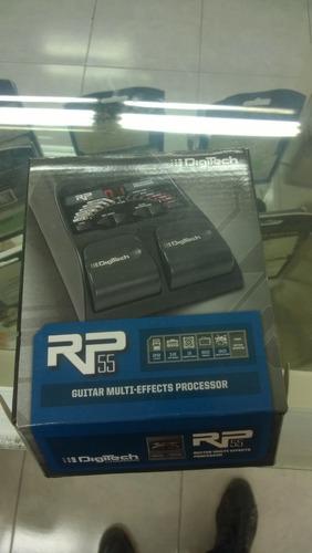 pedalera multiefectos para guitarra rp55 digitech