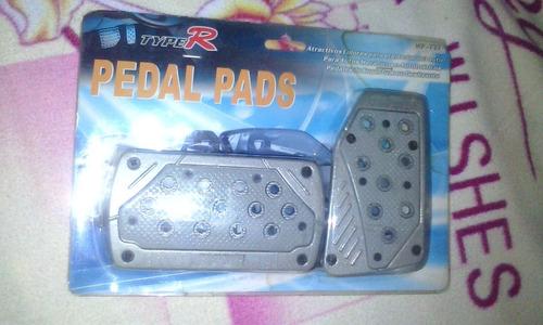 pedalera para autos tunning type r a estrenar, color gris.