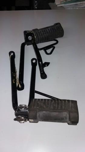 pedalera trazeira com suporte bros160.original (par)