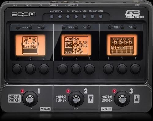 pedalera zoom g3 efectos simulador amplificadores guitarra