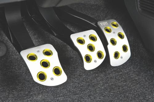 pedaleras deportivas anillos amarillos fiat 10/18