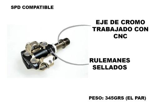pedales automaticos mtb awa m101 - con traba spd compatible