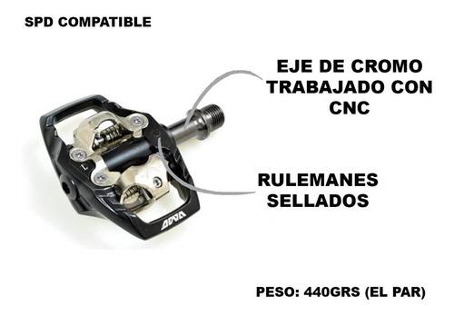 pedales automaticos mtb awa md1a - con traba spd compatible