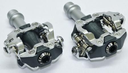 pedales automaticos mtb exustar e-pm213 con traba spd