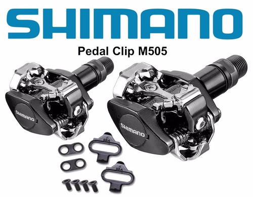 pedales automaticos shimano m-505 spd  negros incluye calas