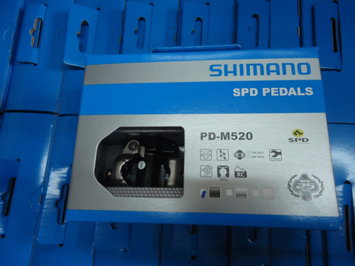 pedales bicicleta automaticos shimano pd-m520 + calas racer