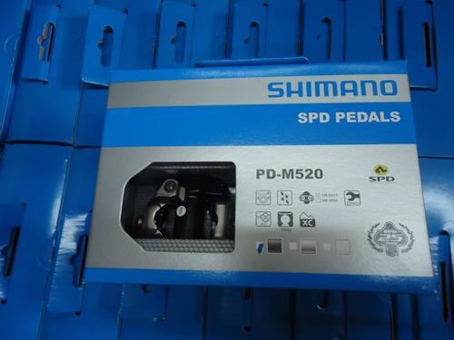 pedales bicicleta automaticos shimano pd-m520 + calas rb