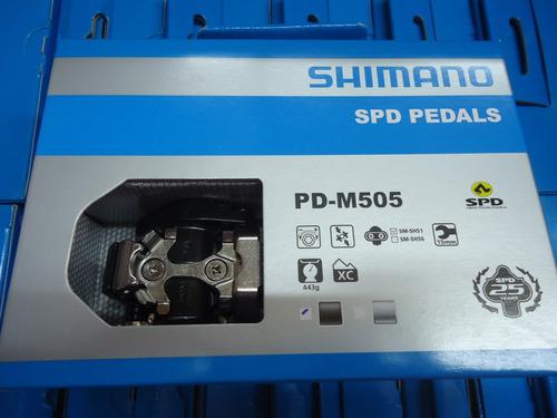 pedales bicicleta mtb shimano pd-m505 + calas  - racer b