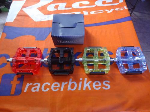 pedales bicicleta vp 577 translucidos plataforma rosca 1/2