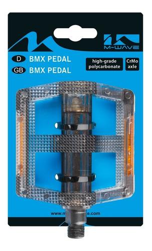 pedales bmx para bicicleta policarbonato negro eje 9/16