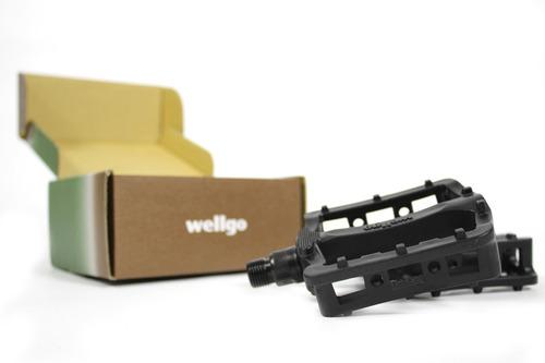 pedales bmx wellgo ¡muy livianos! con rosca 9/16 (3 piezas)