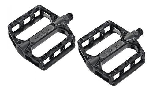 pedales de plataforma wellgo b155 c/ 20 pines - ciclos
