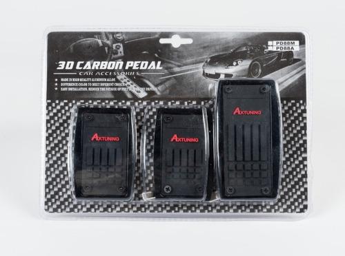 pedales deportivos metalicos carro negros tuning de lujo