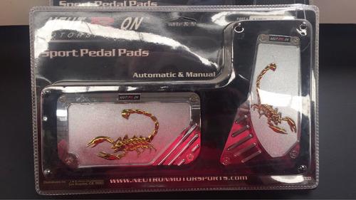 pedales escorpión dorados para automático par