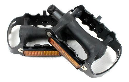 pedales pedal bicicleta en aluminio metal negro resistente ®