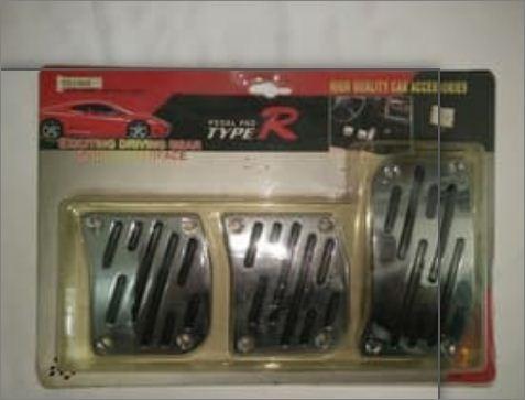 pedales pedalera universal tunning marca type r en acero