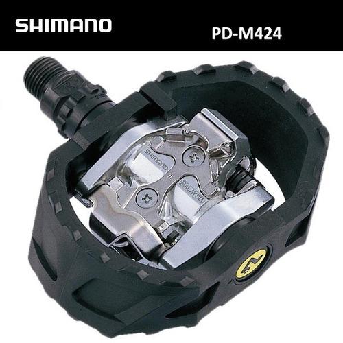 pedales shimano m424  spd mtb