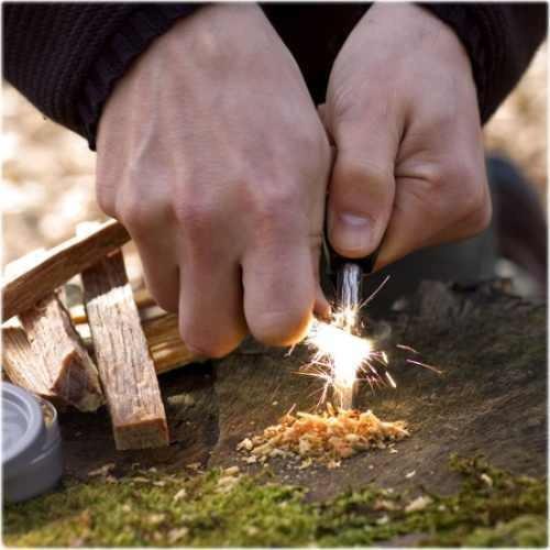 pedernal iniciador d fuego con brujula y silbato envio incl