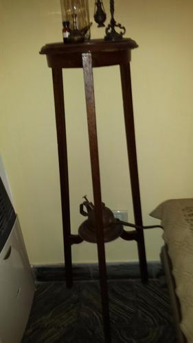 pedestal antiguo de madera, años ´30!