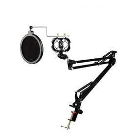 Pedestal Articulado+shock+pop Filter,haste P/microfone,rádio
