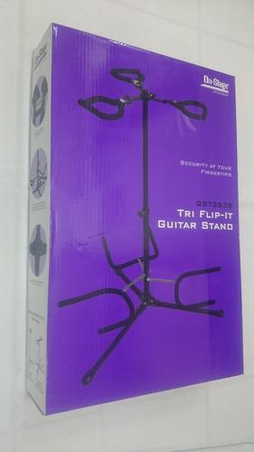 pedestal de guitarra stand soporte triple (brazo abatible)