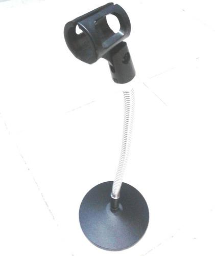 pedestal de mesa para microfone suporte flexível c/ cachimbo