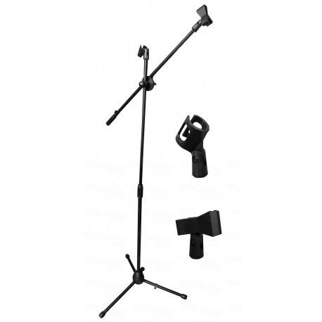 pedestal doble  microfono