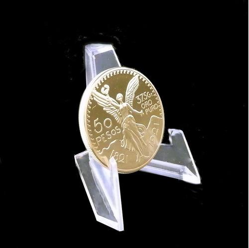 pedestal exhibidor monedas oro plata precio x pieza #1