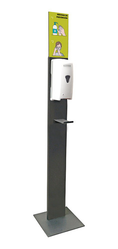 pedestal isaac para dispensador gel antibacterial gun metal